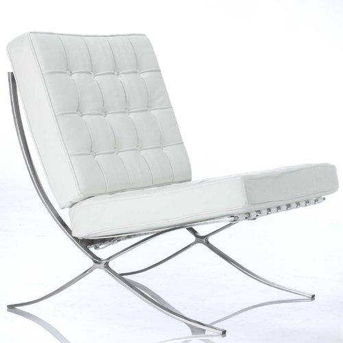 Barcelona Chair - Vit