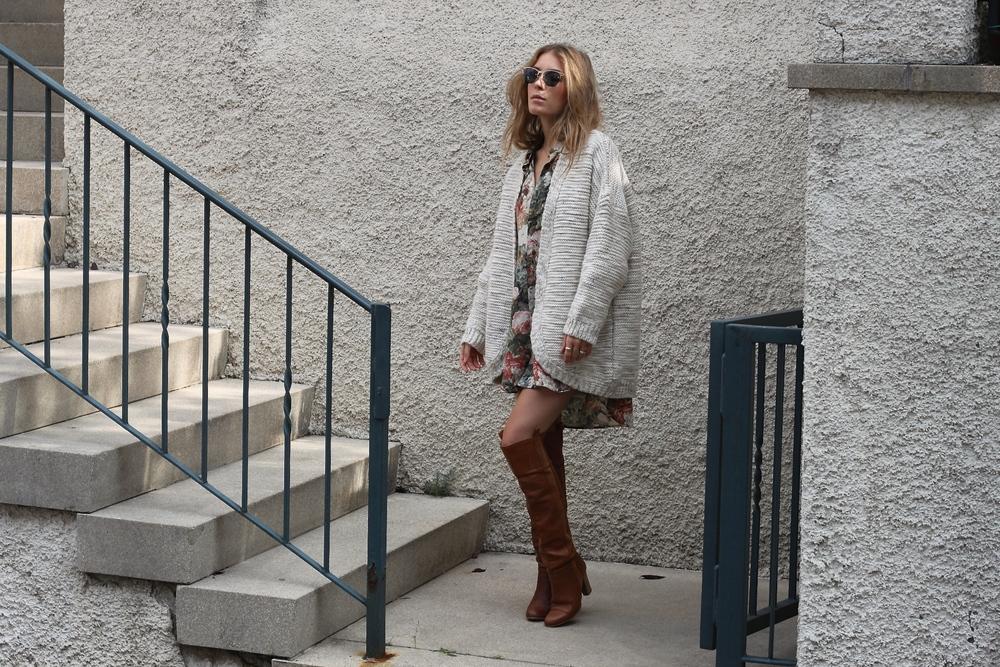 blouse Paul Smith knitwear Zara ring Cartier sunglasses JeanPaulGaultier boots Zara