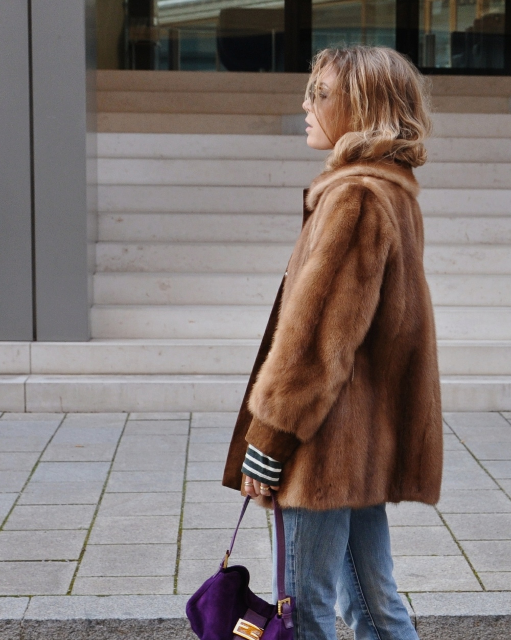coat Vintage shirt WOODWOOD jeans Diesel necklace Ruth Sellack bag FENDI sunglasses JeanPaulGaultier shoes Zara