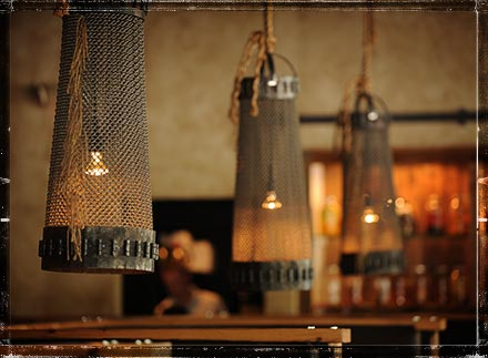 Custom lighting and furnishings fill each tavern.