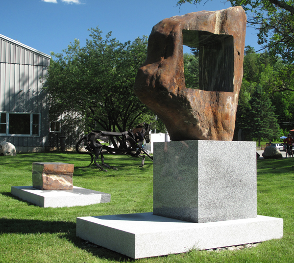 "Frame for the World  Gneiss Boulder, Granite 102"" x 72""  x 48"" 2010 SOLD - $60,000"