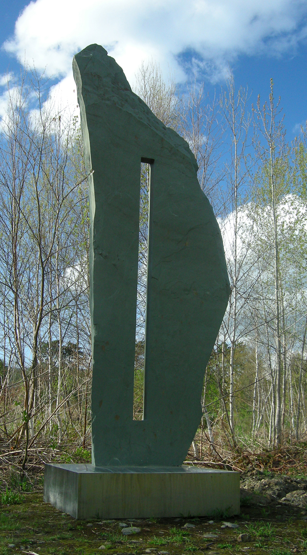 "Portal                                                                                                                                                                                  Slate and Stainless Steel 156"" x 48"" x 48"" 2006 $35,000 - RESERVED"