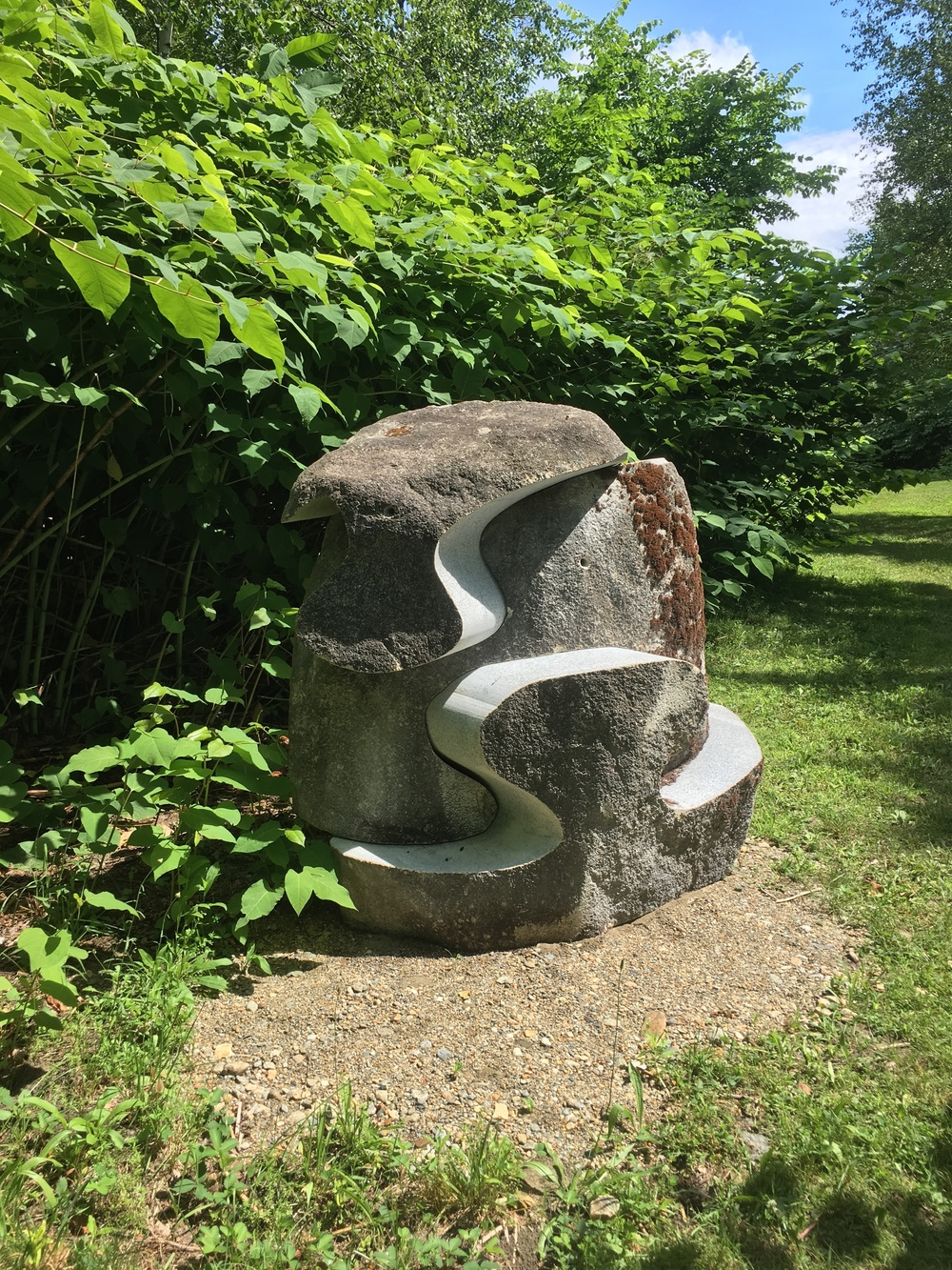 "Megalithic Toy  Granite Boulder   60"" x 50"" x 40""   2016   $18,000 - RESERVED"