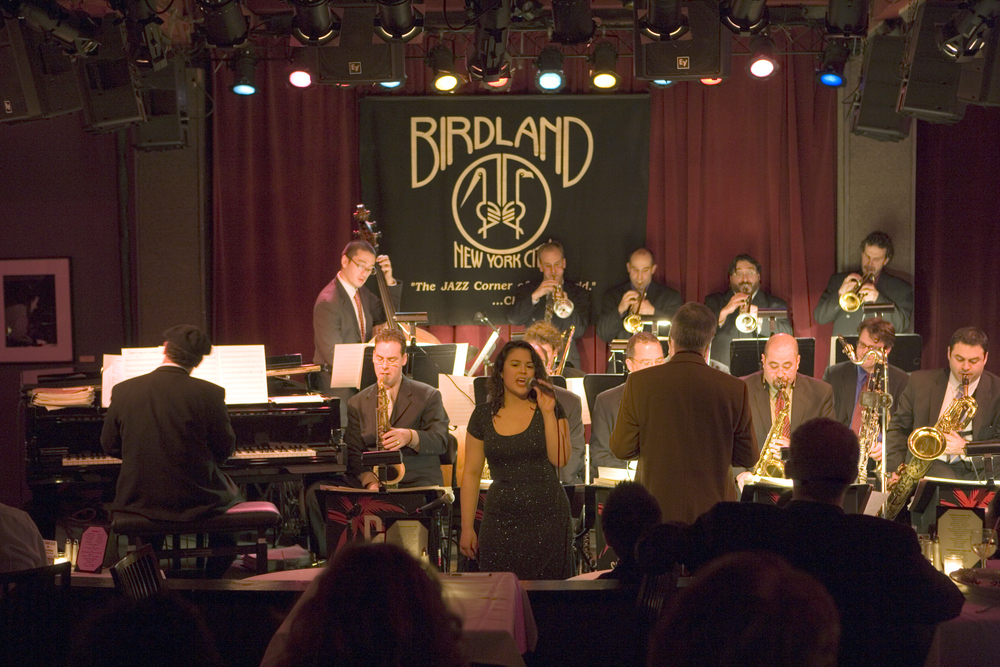 at Birdland with the David Berger Jazz Orchestra.