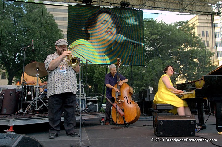 On stage with Fuku, Hide, and Stephen. Clifford Brown Jazz Fest 2010.
