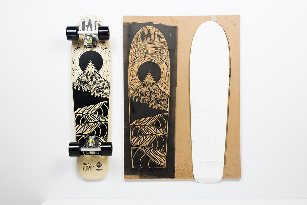 From sketch, to carving, to printing on the deck, these are all around hand crafted cruisers.
