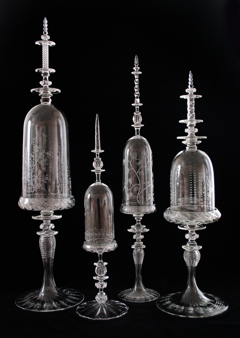 etched bell jars