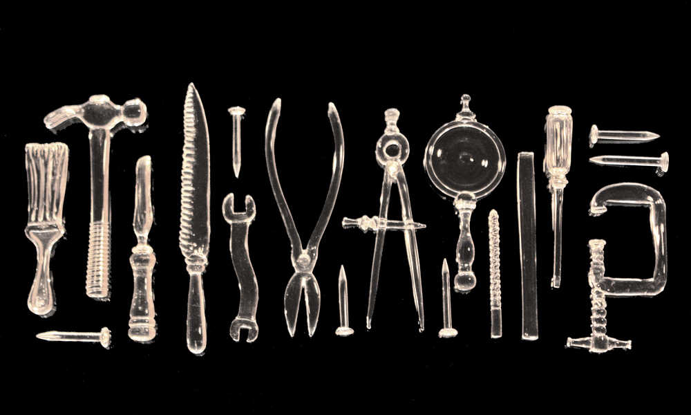 assorted glass tools