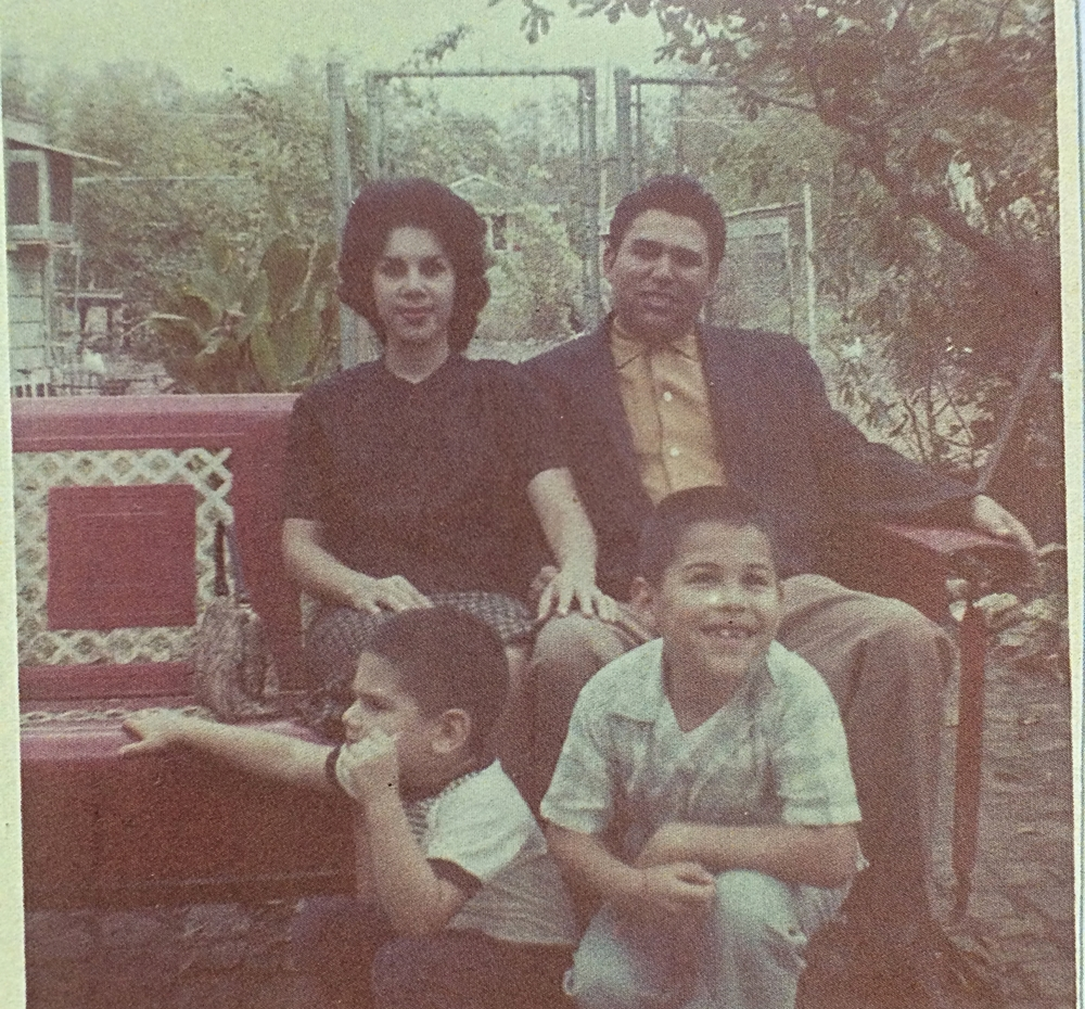 Elva & Rudy Ramirez with thier two sons Roland & Jerry 1960