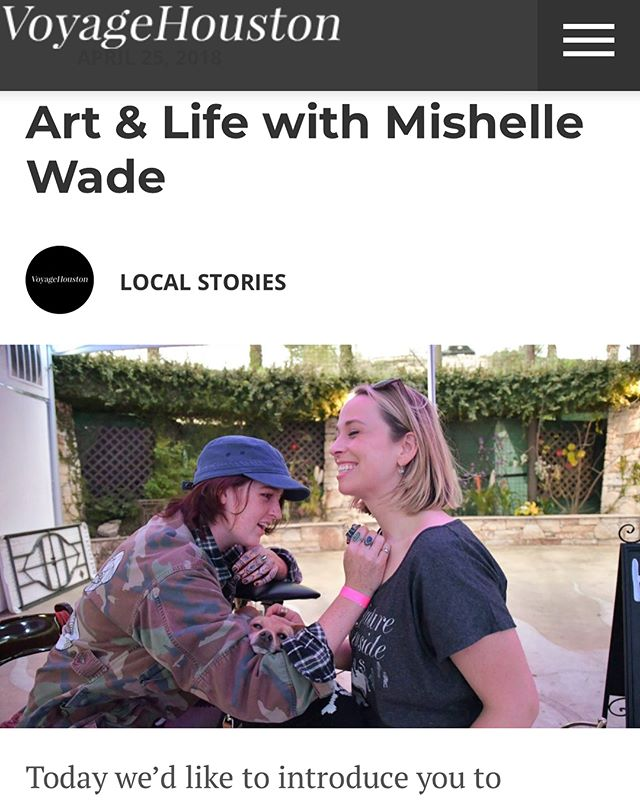 Thank you @voyagehouston for putting up this interview with me! I seldom have a opportunity to reflect and explain my art in detail to others who want to listen so thank you!! If you'd like to read more about me and my art click the link in my bio for the full article and some images of my best work! I screenshotted most of it for your perusal 💗