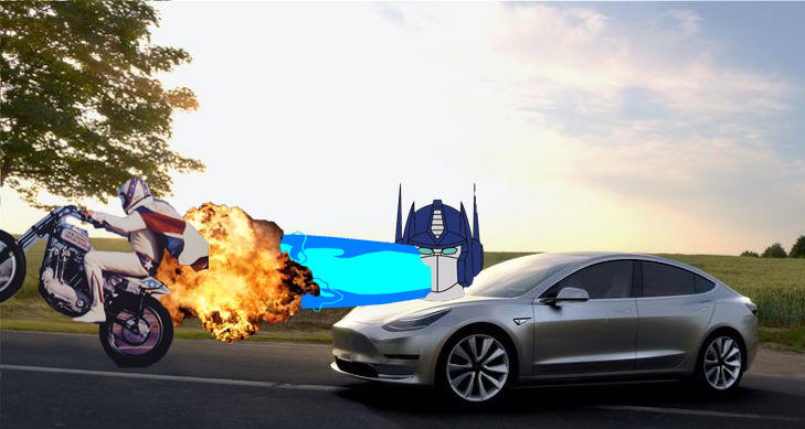 A summation of my alarmist narrative. The electric, autonomous car will kill the motorcycle.