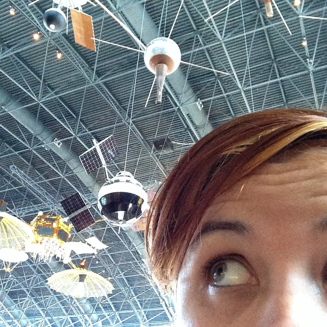 And then of course there are all of these guys… #space #satellites (at National Air and Space Museum, Steven F. Udvar-Hazy Center, Smithsonian)