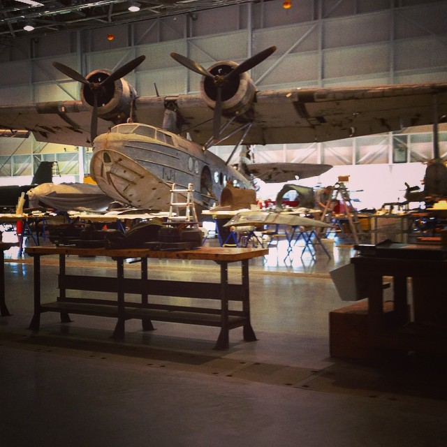 Today, a tour of the #restoration hanger… So fantastic to see this important work up close! #airplane #design #art  (at Udvar-Hazy)