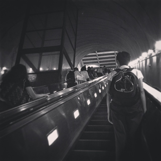 My new commute home on the  #metro (at Rosslyn Metro station)