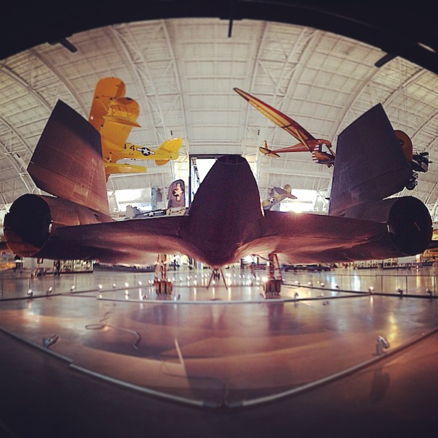 Blackbird #airplane #design (at National Air and Space Museum, Steven F. Udvar-Hazy Center, Smithsonian)