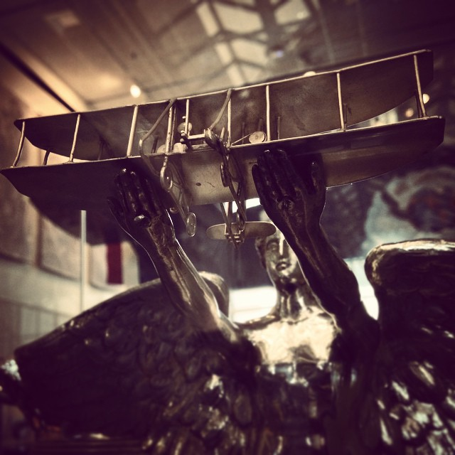 MACKAY trophy elevating early flight #airplane #art  (at National Air and Space Museum, Smithsonian Institution)