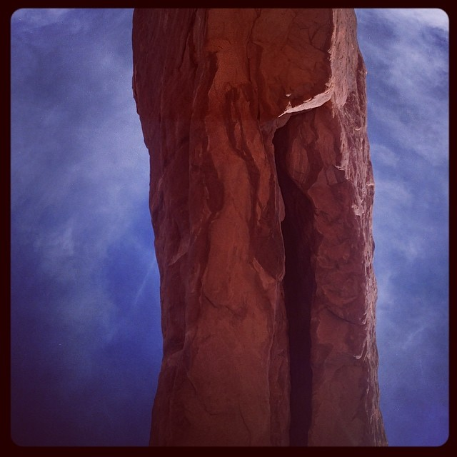 Turning expectation upside down with arches of stone overhead in Moab UT. # arches #Moab # desert design lab # Vivian beer # Tanya Aguniga # Hannah Vaughn # art #design # furniture # Furniture Society #penland #anderson ranch #society of arts and crafts (at Arches National Park)