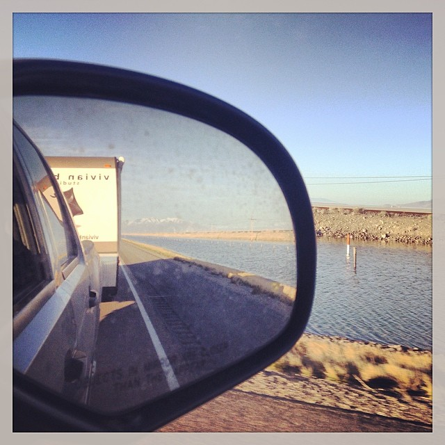 Heading towards Boneville Salt Flats! (at Great Salt Lake Salt Flats)