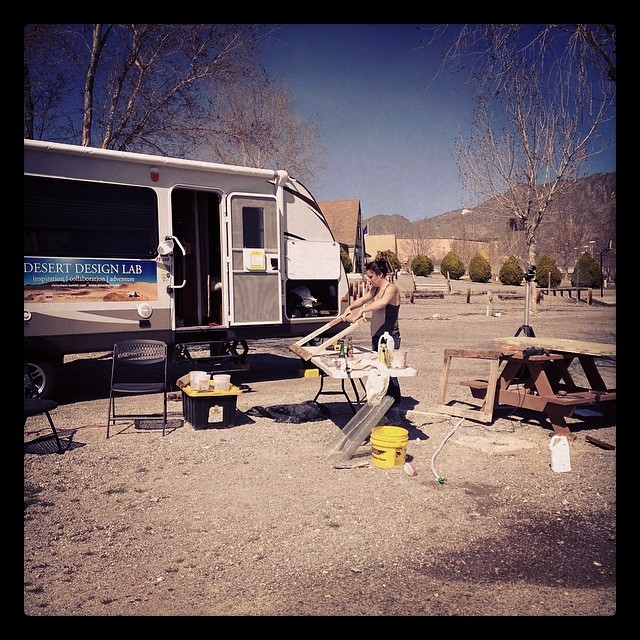 Plenty of room to spread out and work here in West Wendover NV! #vivianbeer #desert #desertdesignlab #design #desertart #furnituredesign
