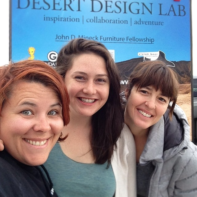 Finished up the active days of Desert Design Lab in Salt Lake City. Saying Bon-voyage to Hannah Vaughan and Jennifer Anderson. Now the long ride home! #desertdesignlab #vivianbeer #art #design (at Pony Express RV Resort)