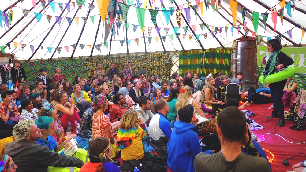 Telling Stories at Shambala Festival