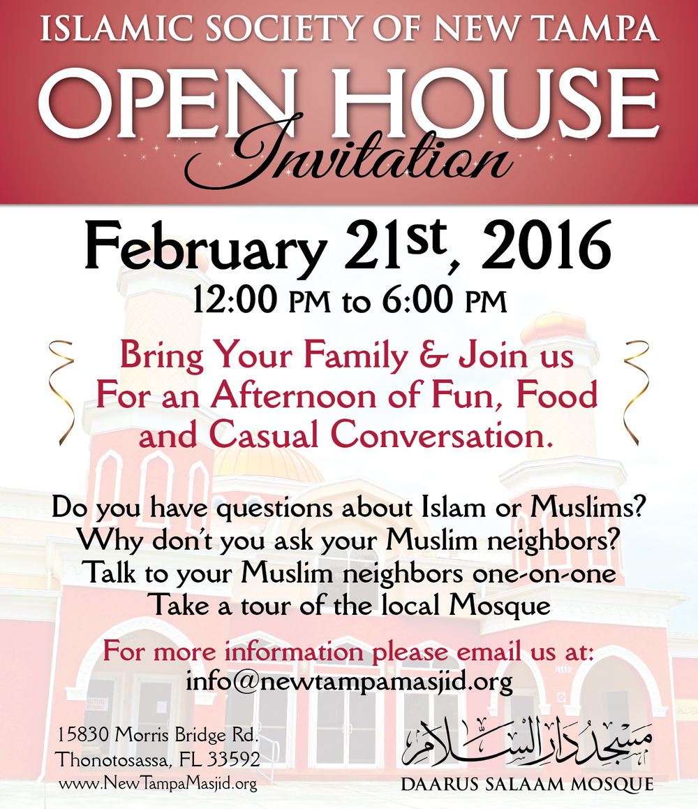 Community Open House at Daarus Salaam Mosque, Tampa, FL