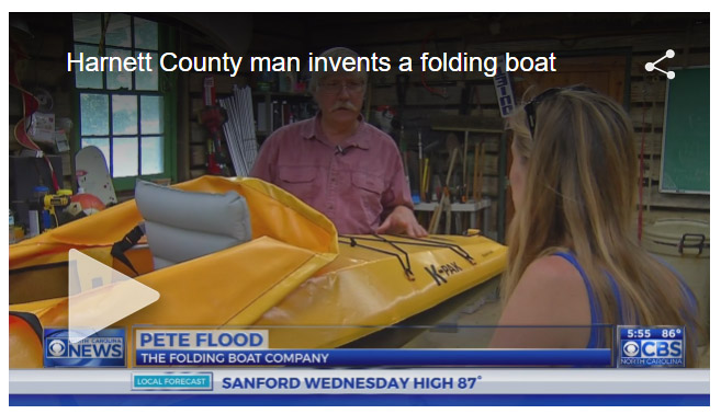 Folding Boat featured on WNCN