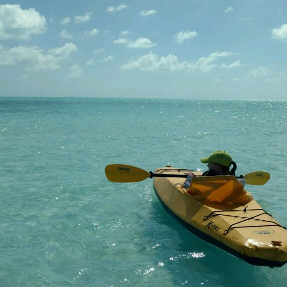 Perfect day for a paddle at Turks & Caicos Islands