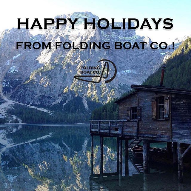 Happy Holidays from all of us at Folding Boat Company! 📸 @valeriapixner . . . . . #foldingboatco #happyholidays #retreat #relax #outdoors #optoutside #family #unplug #familytime #views #mountains #kayak #river #water #watersports #kayaking #boatonthego #outdoorgear #boat
