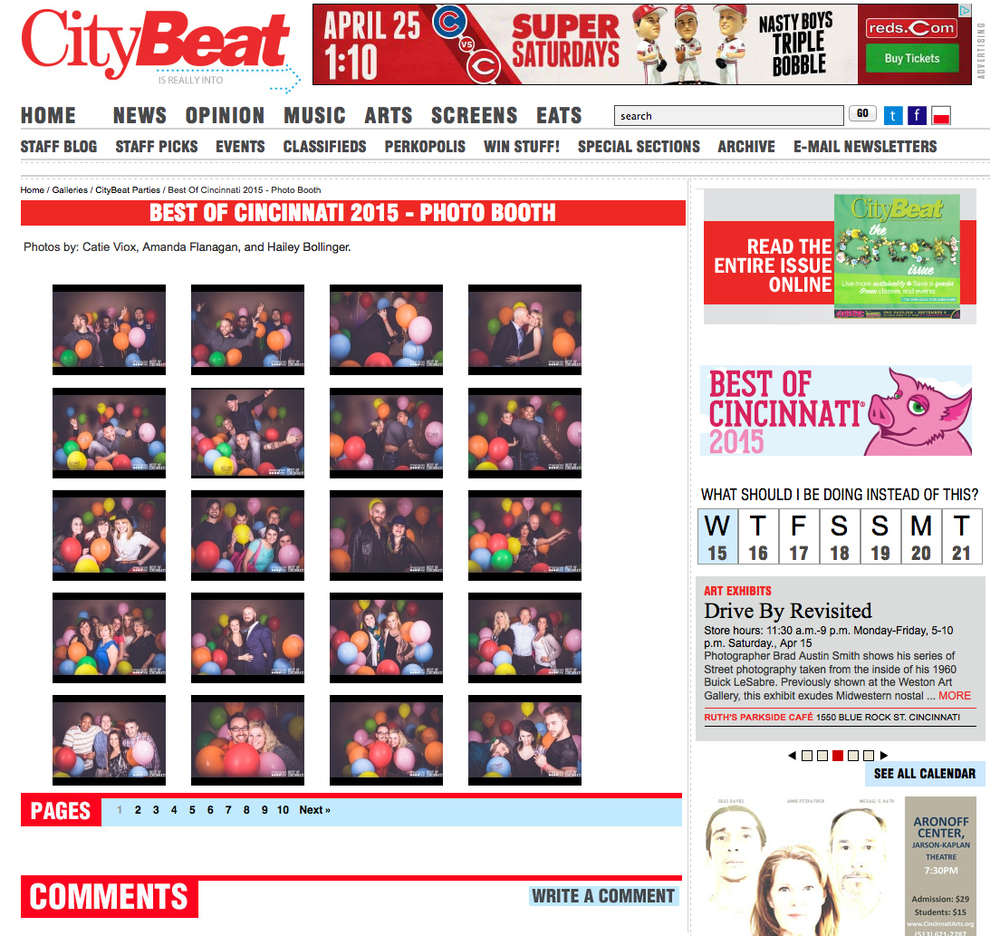 Best of Cincinnati 2015 Photo Booth