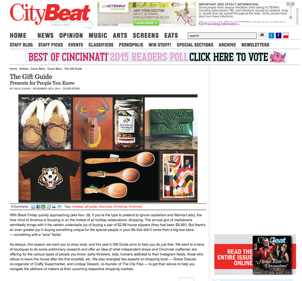 Citybeat Gift Guide 2014