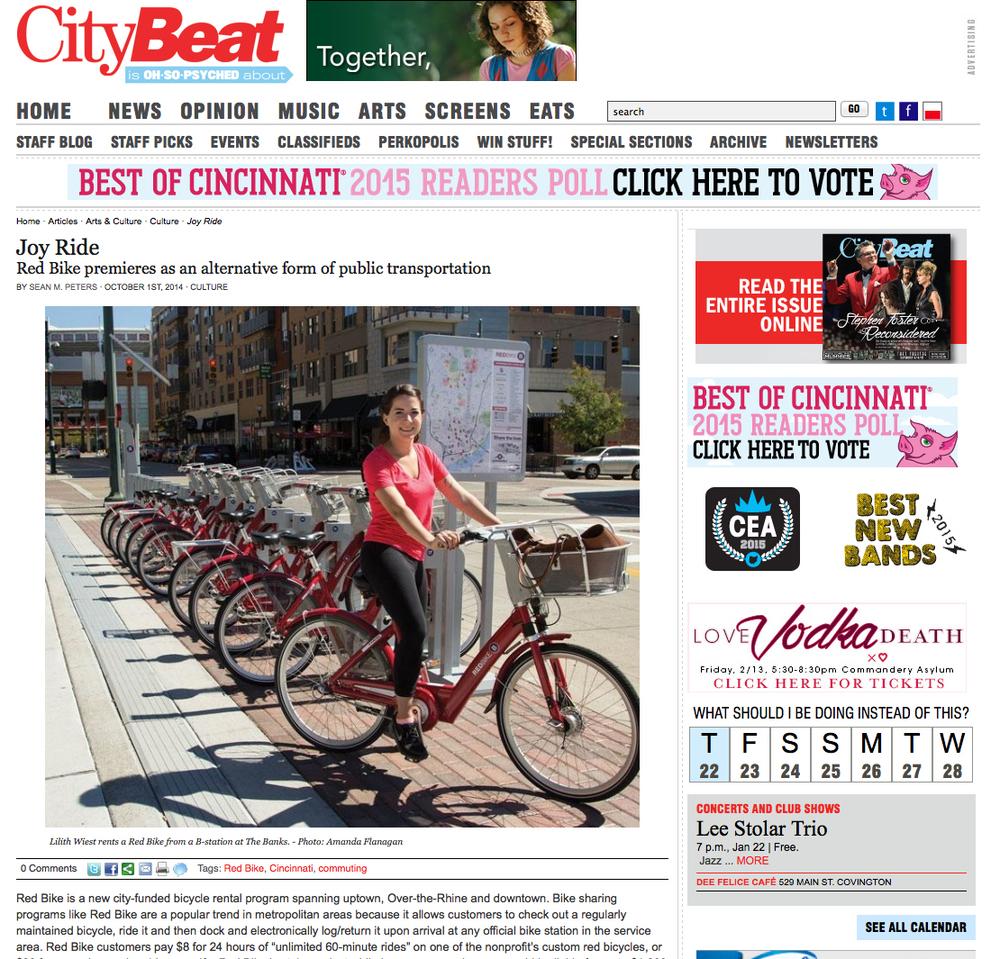 Red Bike in Cincinnati