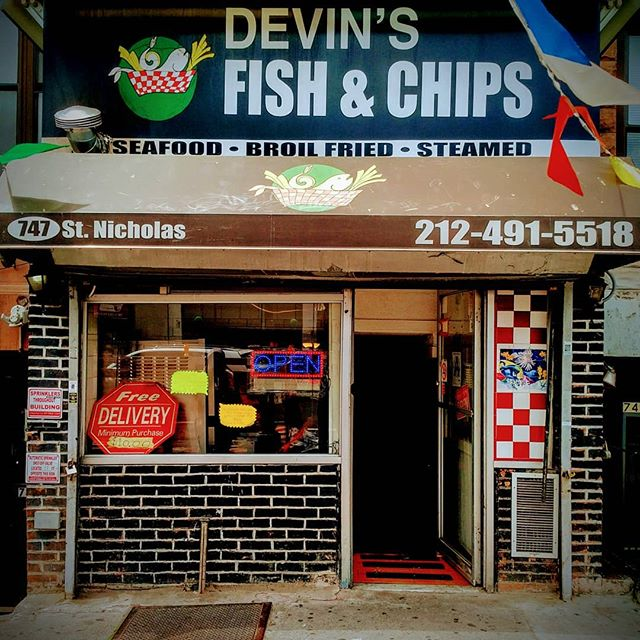 Had some #delicious #fishandchips for #lunch at @devinsfishandchips in #sugarhill #newyorkcity