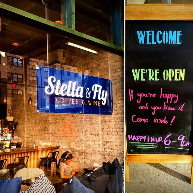 Walked by @stella_and_fly a #new #cool #bar and #coffeeshop on the #uppereastside of #newtorkcity I was #happy and I knew it !