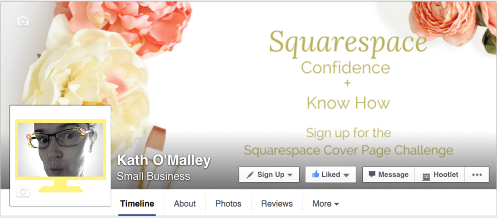 Facebook Squarespace Cover Page Challenge Banner Image