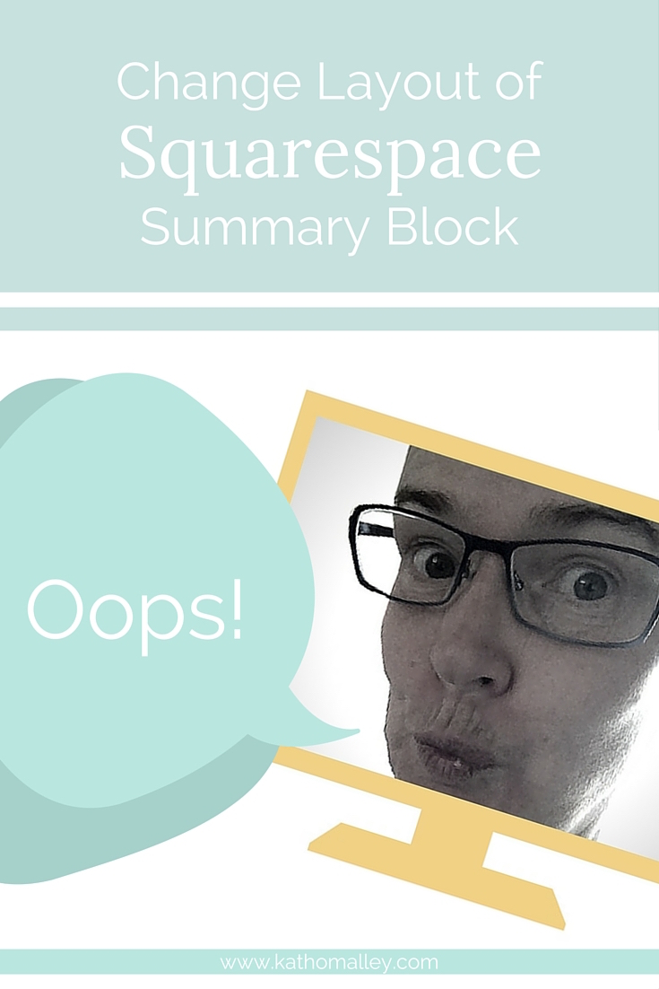 Squarespace Summary Block Layout