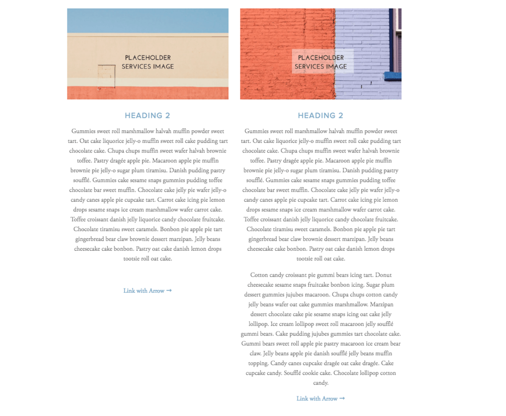 Wordy Web Copy ruins Squarespace Template Designs