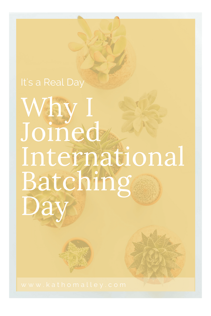 Joining Melissa Cassera's International Batching Day