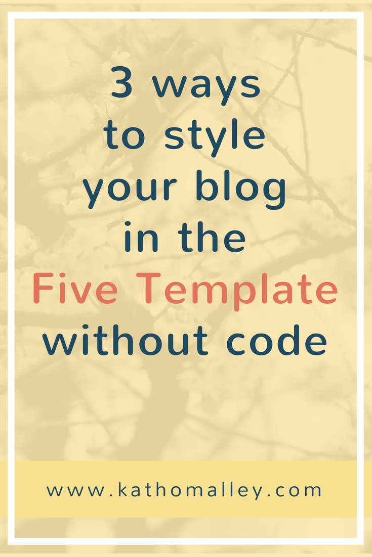 How to Style your Blog in the Five Template on Squarespace.