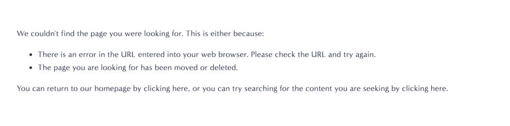 Squarespace 404 error page system default
