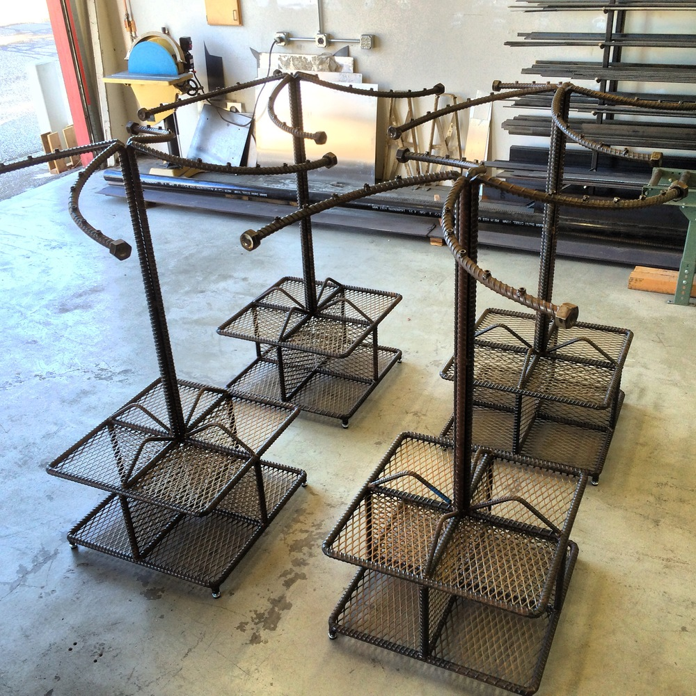 Industrial clothing racks
