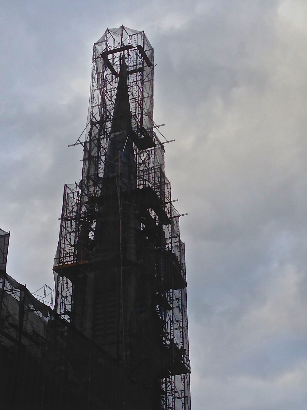 Scaffolding on a Steeple
