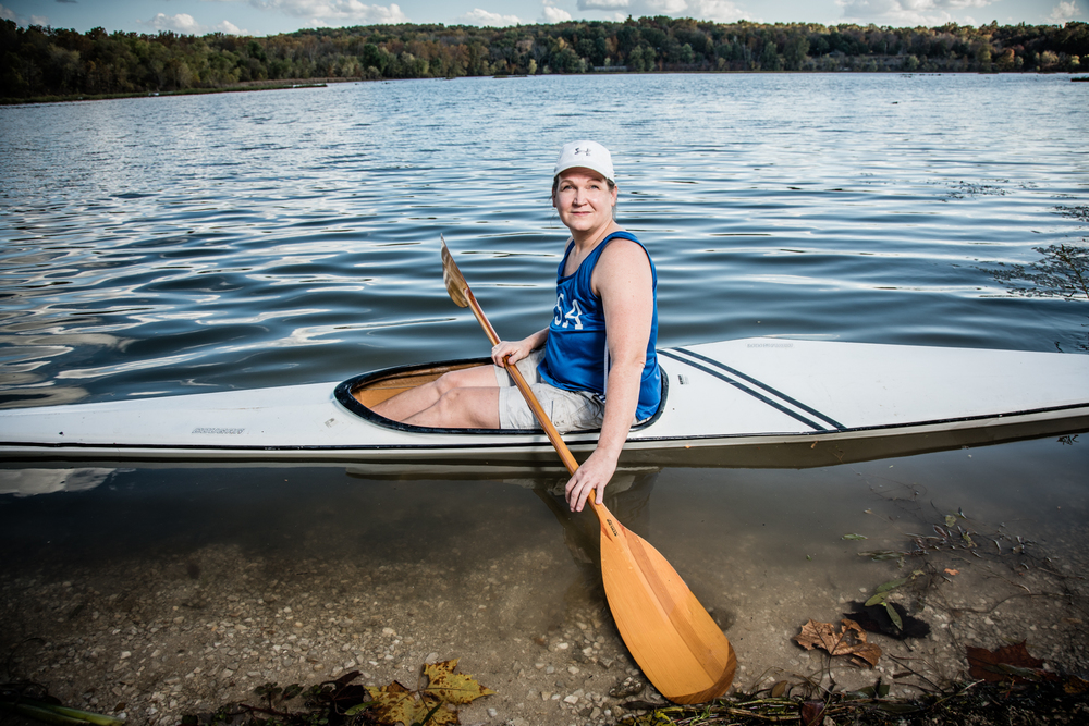 cancer survivor olympic kayak
