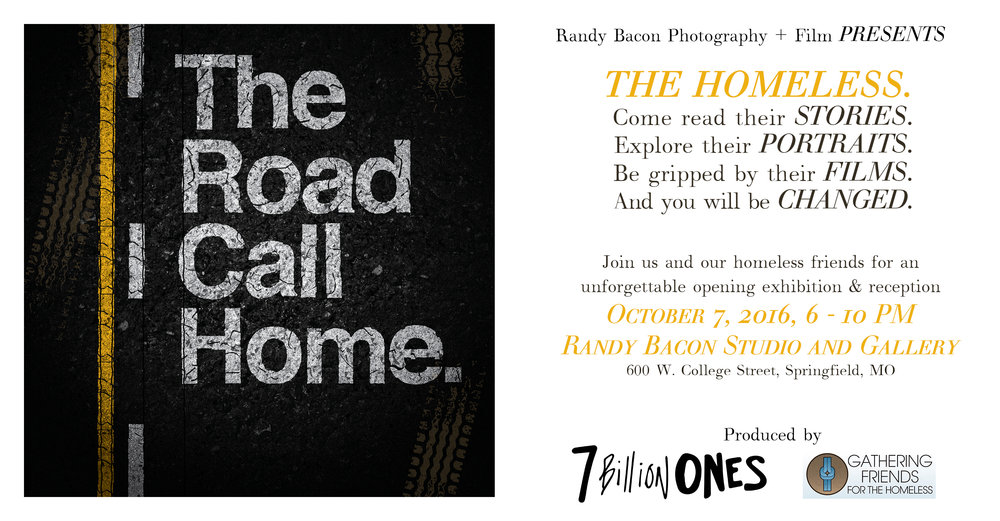 7 billion Ones, Randy Bacon, The Road I Call Home, homeless, Gathering Friends