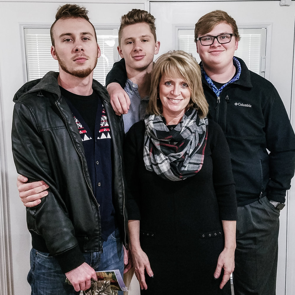 Linda and her sons