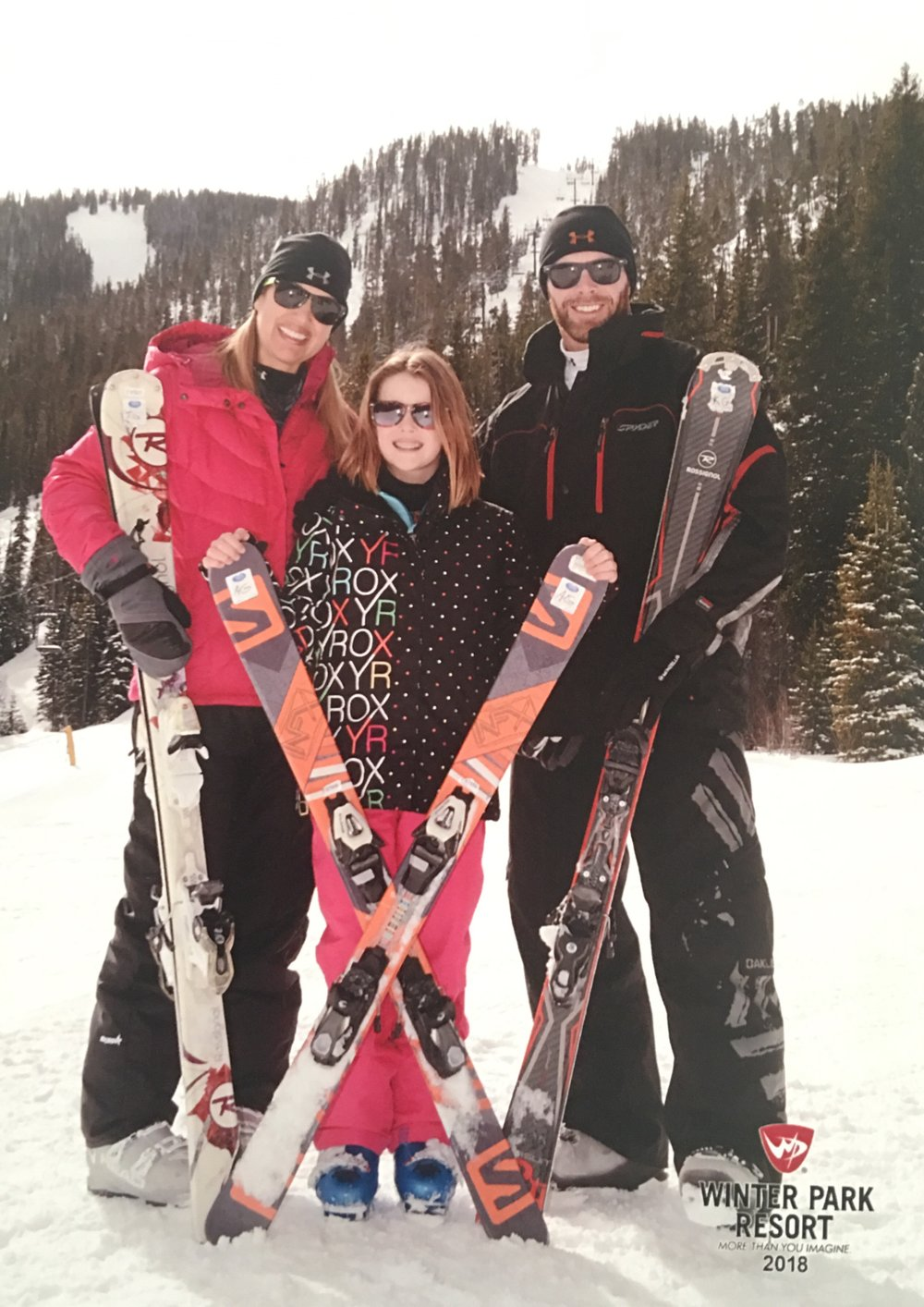 Adelyn was able to enjoy skiing with her family in Feb 2018 - no broken bones!