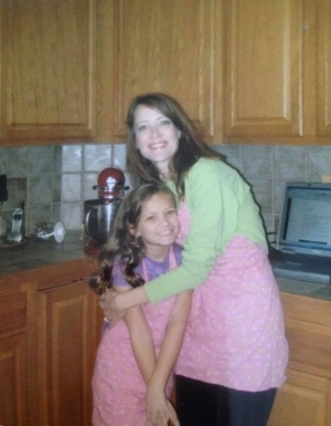 "Jennifer and her daughter Reese  - ""She and I loved spending time in the kitchen and watching cooking shows together."""