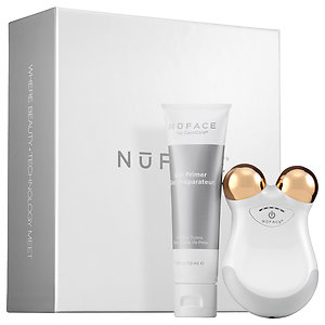 NuFACE White Rose Mini Facial Toning Device