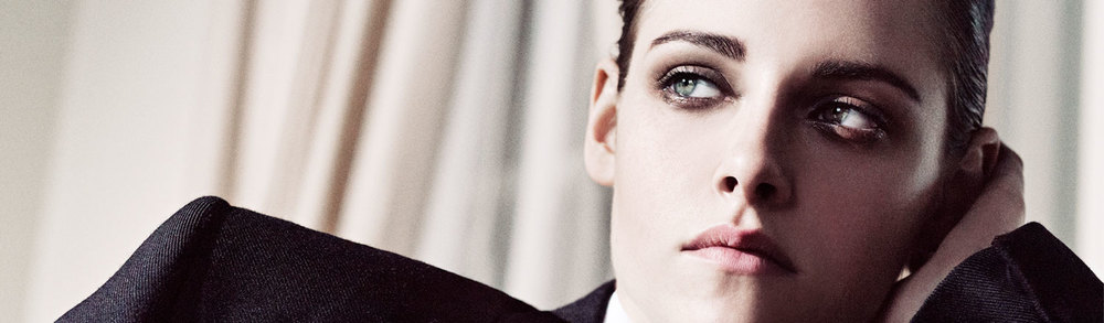 Kristen Stewart modeling the Lid Tints.