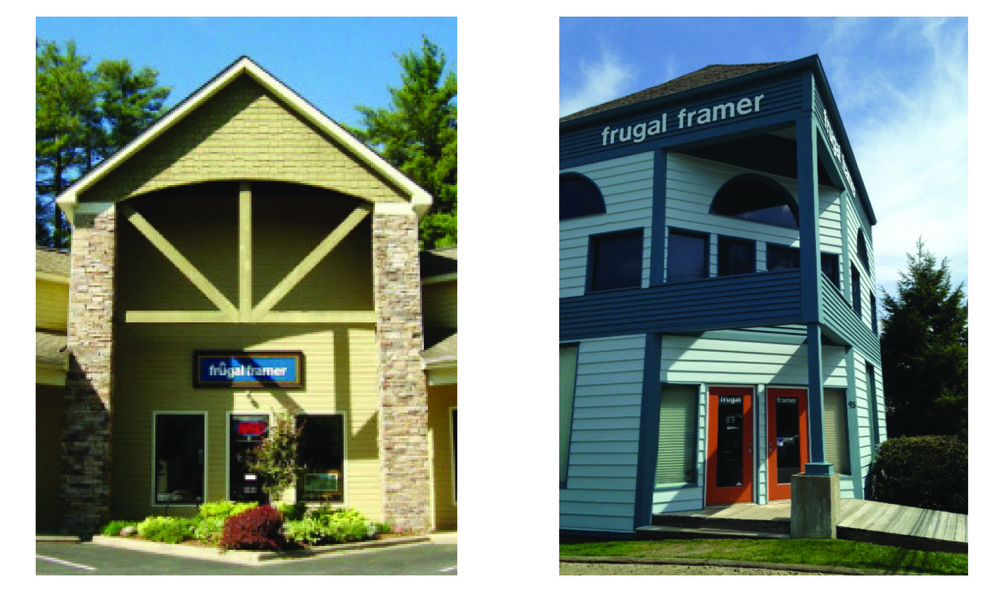 In 1975, Ken Pitts, the founder of Frugal Framer opened a small frame shop on Wall Street in downtown Asheville.  After ten years on Wall Street, Frugal Framer moved to the current location on Cherry Street in the historic Montford neighborhood. A second retail location was opened on Hendersonville Road in 2009 and continues to serve South Asheville.  In 2015 Frugal Framer celebrated forty successful years in business. 2015 also brought a change in ownership of Frugal Framer as Ken Pitts began the transition into retirement. The new owner, Jennifer Pearson is a former Frugal Framer employee who re-joined the company. Jennifer has a background in architecture and design as well as years spent as an artist and framer.  The entire Frugal Framer staff is excited about growth and change, and look forward to many more years serving Asheville's eclectic, vibrant community.